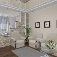 оригинальный интерьер гостиной спальни картинка