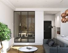 светлый декор спальни и гостиной в одной комнате фото