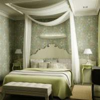 оригинальный декор спальни в средиземноморском стиле картинка