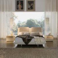яркий стиль спальной комнаты фото