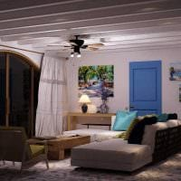яркий интерьер гостиной в средиземноморском стиле картинка