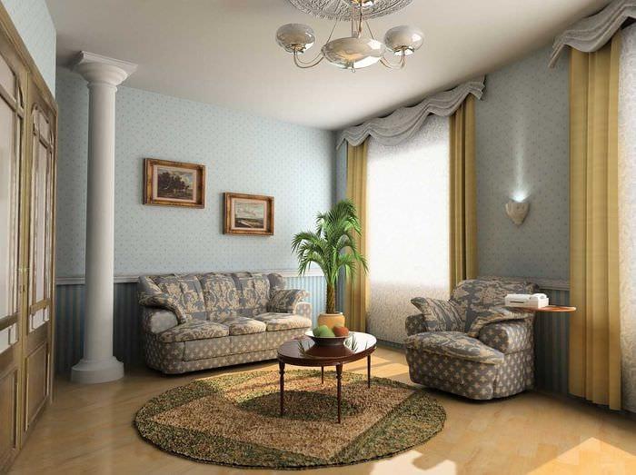 красивый декор гостиной в стиле модерн