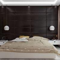необычный дизайн спальни со стеновыми панелями картинка