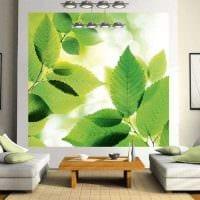 светлый дизайн гостиной в весеннем стиле картинка