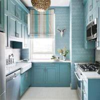 яркий стиль квартиры в голубом цвете фото