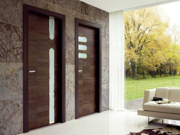 межкомнатные двери в стиле гостиной