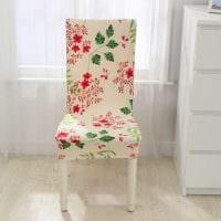 вариант светлого декора стульев фото