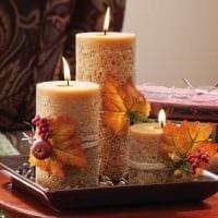 вариант яркого украшения свечек своими руками картинка