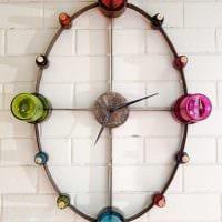 вариант красивого оформления настенных часов своими руками фото