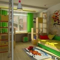 идея светлого декорирования детской картинка