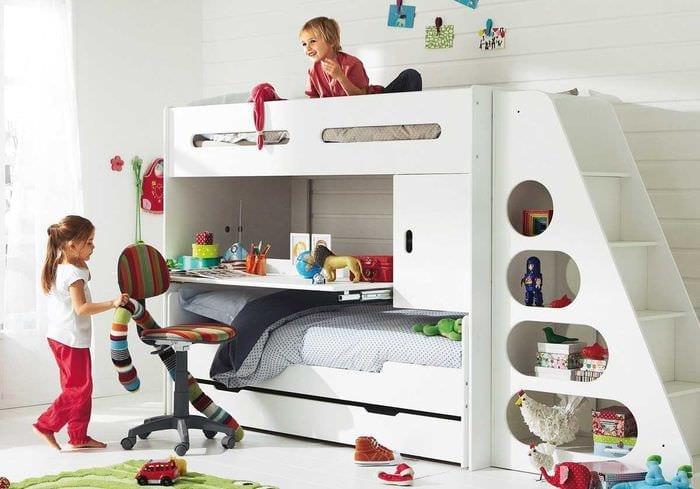 идея красивого декорирования детской комнаты