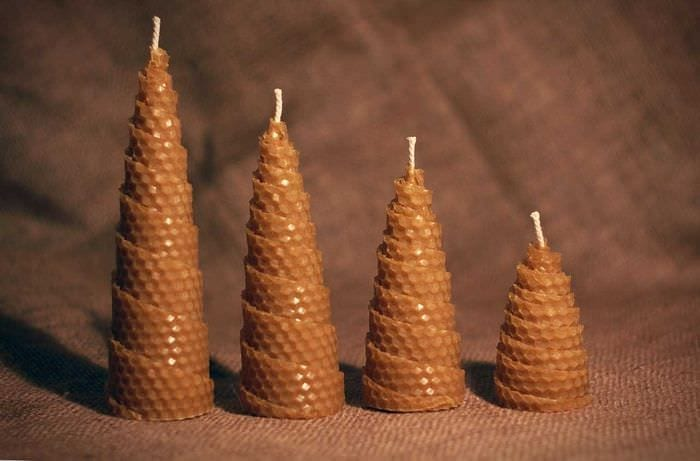 вариант яркого декора свечей своими руками
