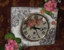 вариант яркого оформления часов своими руками фото
