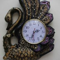 вариант красивого декора часов своими руками фото