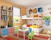 идея яркого декора детской комнаты картинка