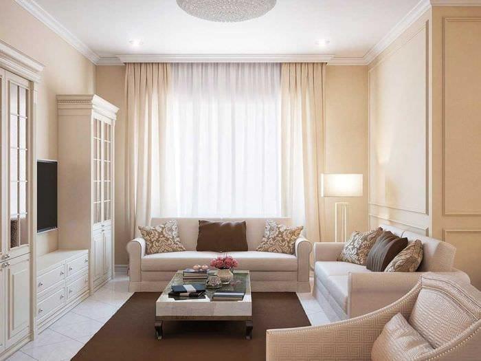 вариант оригинального украшения гостиной комнаты своими руками