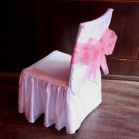 вариант шикарного декорирования стульев своими руками картинка