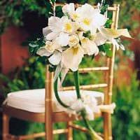 вариант оригинального декора стульев картинка