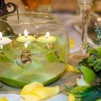 вариант светлого декора свечек своими руками фото