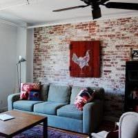 идея яркого декорирования гостиной своими руками фото