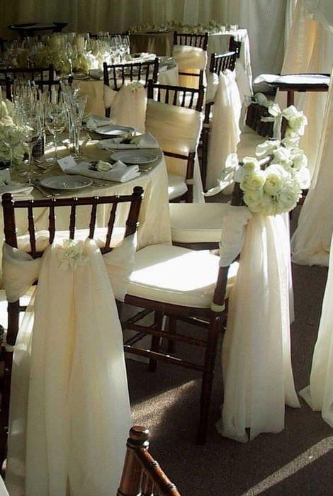 идея красивого декора стульев