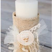 идея яркого украшения свечек своими руками фото