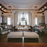 вариант шикарного декора гостиной комнаты своими руками картинка