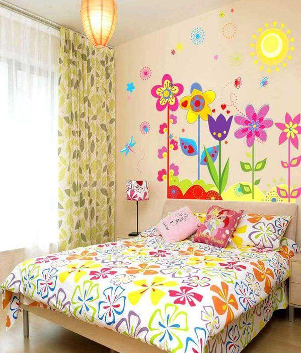 идея красивого украшения детской комнаты