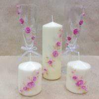 идея оригинального декора свечек своими руками картинка