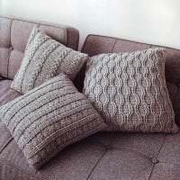 вязанные крючком чехлы в дизайне спальни фото
