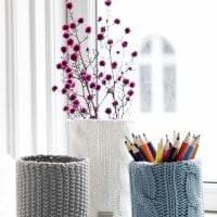 вязанные подушки в стиле комнаты картинка