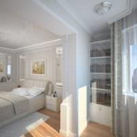светлый интерьер спальни гостиной картинка