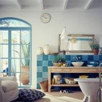 красивый дизайн спальни в средиземноморском стиле фото