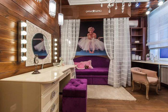 красивый декор спальни со стеновыми панелями
