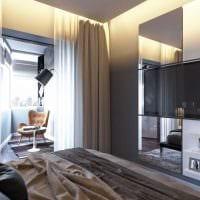 яркий дизайн гостиной спальни фото