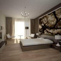 оригинальный стиль спальни и гостиной в одной комнате фото