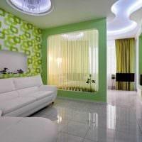 красивый интерьер спальни и гостиной в одной комнате фото