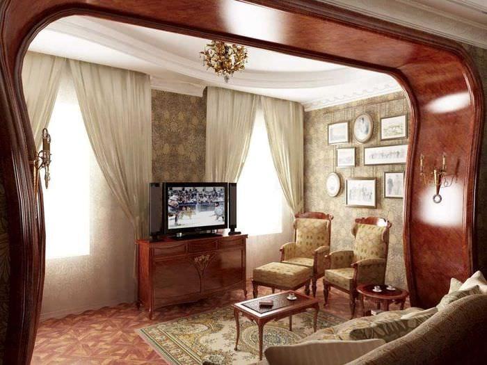необычный интерьер квартиры в стиле модерн