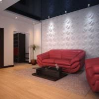 красивый дизайн спальни со стеновыми панелями картинка
