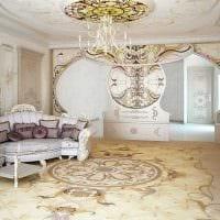 светлый интерьер комнаты в стиле ампир картинка