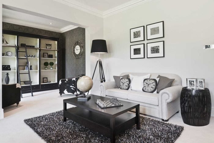 яркий интерьер спальни в стиле модерн