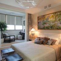 светлый дизайн спальни гостиной фото
