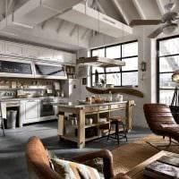 современный дизайн комнаты в винтажном стиле фото