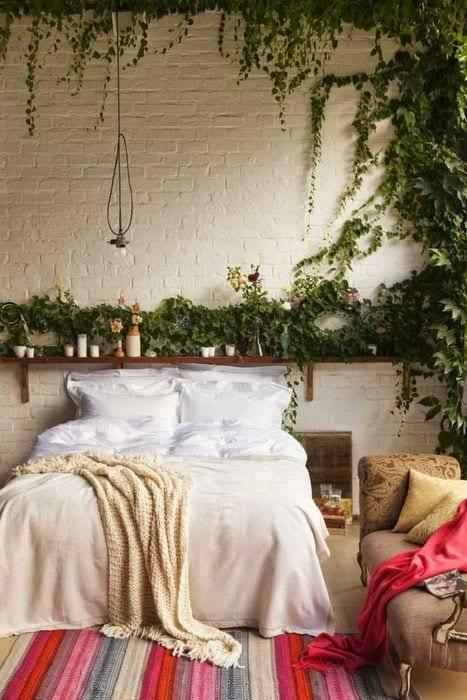 необычный стиль спальни
