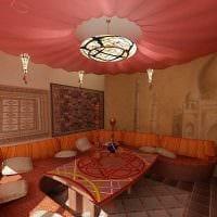 современный дизайн комнаты в восточном стиле картинка