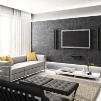 яркий дизайн комнаты в горчичном цвете картинка