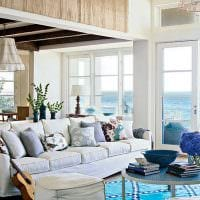 яркий декор комнаты в голубом цвете картинка