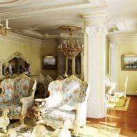 светлый интерьер спальни в стиле ампир картинка