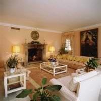 яркий стиль квартиры в горчичном цвете картинка