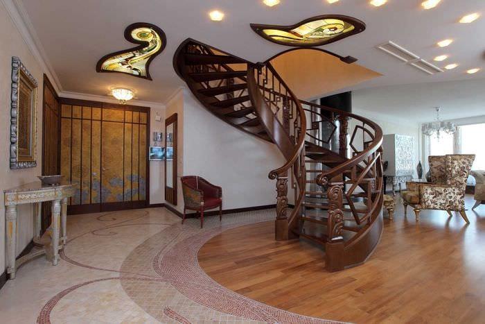 светлый интерьер квартиры в стиле модерн